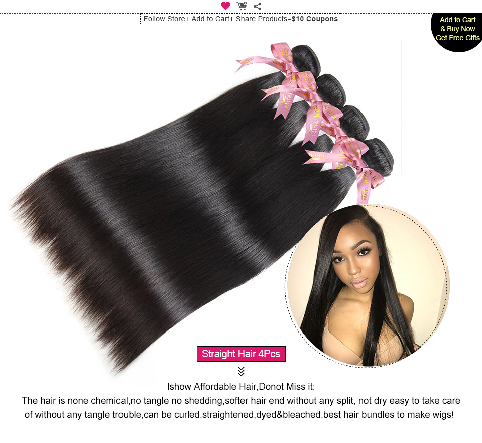 ishow straight remy human hair weave (1)