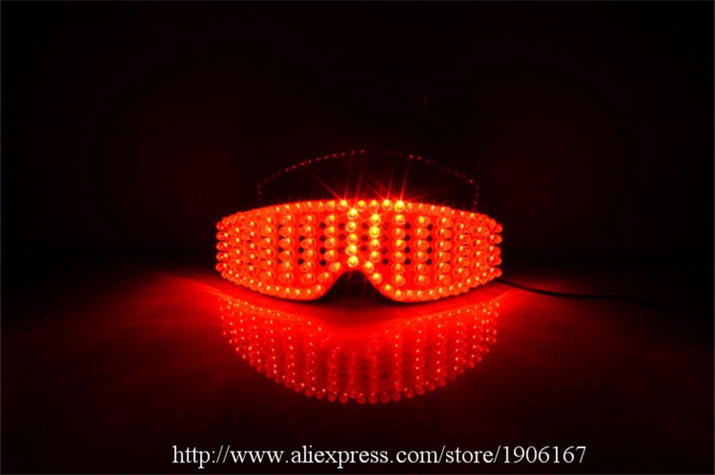 Red led luminous party glasses09