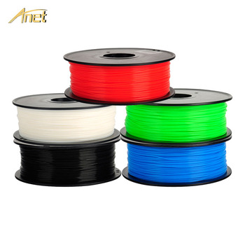 10PCS Anet 3D Printer PLA / ABS filament 1.75mm 1kg/spool for MakerBot/RepRap/kossel/Createbot/3d Pen 3d Printer Filament PLA reprap kossel 3d printer aluminum alloy bowden extruder for 1 75 3 mm filament including 42 stepper motor