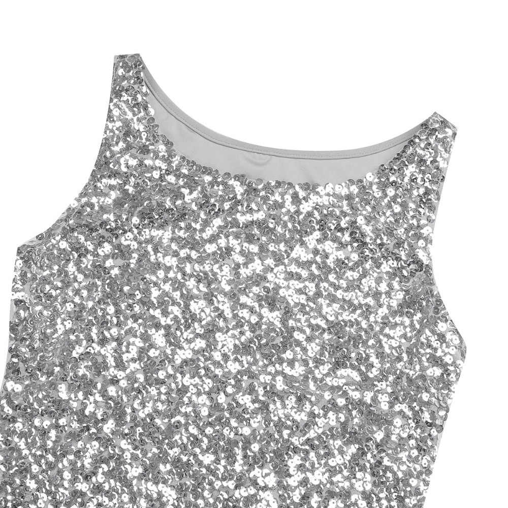 d32d0260a7 ... iiniim Womens Shine Glitter Sequin Embellished Sleeveless Vest Tank  Tops Fashion Style Clothing for Cocktail Party