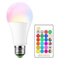 Hohe Qualität E27 15W RGB LED 16 Farbwechsel Licht Kerze Birne Scheinwerfer Lampe AC85-265V + 24 schlüssel IR fernbedienung