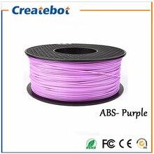 3D Printer Filament ABS Filament 1.75mm 3mm 1kg Plastic Rubber Consumables Material 3d filament Purple Color