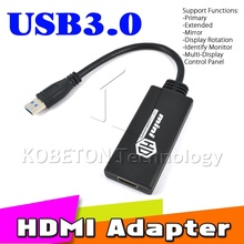 kebidu New Arrive USB 3.0 To HDMI Adapter Mini HD 1080P Video Cable Adapter Converter For PC Laptop