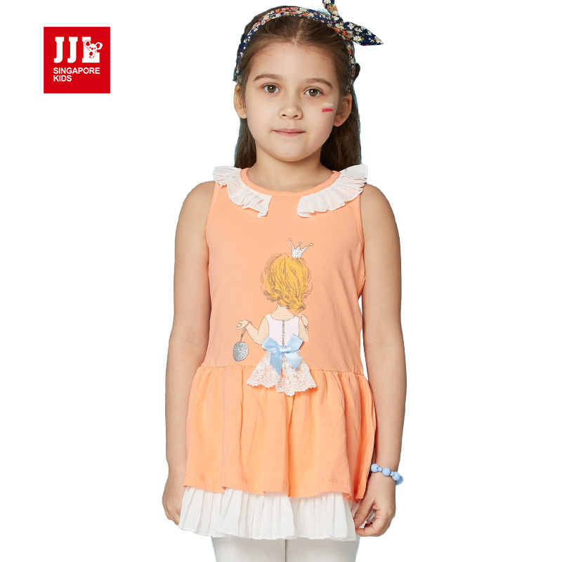 girls dress children clothing sleeveless peter pan collar girls clothes kids dress children vestido