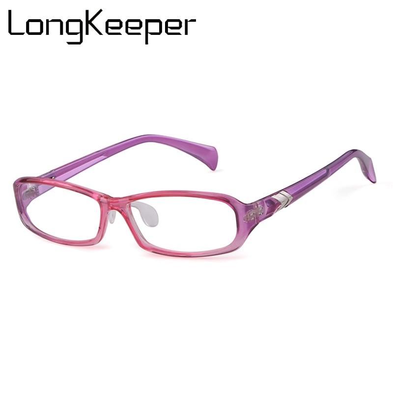 Pink black Square glasses frame women men optical glasses frame Transparent Eyeglasses Women Full Eyewear Armacao de oculos