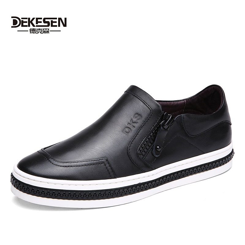 DEKESEN Brand High quality 2017 Shoes for men Fashion casual shoes Male Loafers genuine leather men flats shoes zapatos hombre dxkzmcm genuine leather men loafers comfortable men casual shoes high quality handmade fashion men shoes