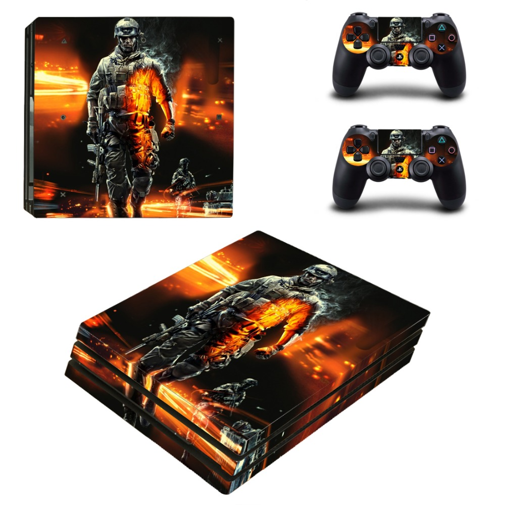 OSTSTICKER Fighting Vinyl Skin Sticker for Sony PS4 Pro For Sony Play Station 4 Pro Console and Controllers Skins Decal