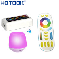 HOTOOK 2.4G milight LED Controller RGBW RGB + CCT RF touch Remote 4 Zone Wireless +Wifi Hub 12V 24V for Phone Strip Free ship