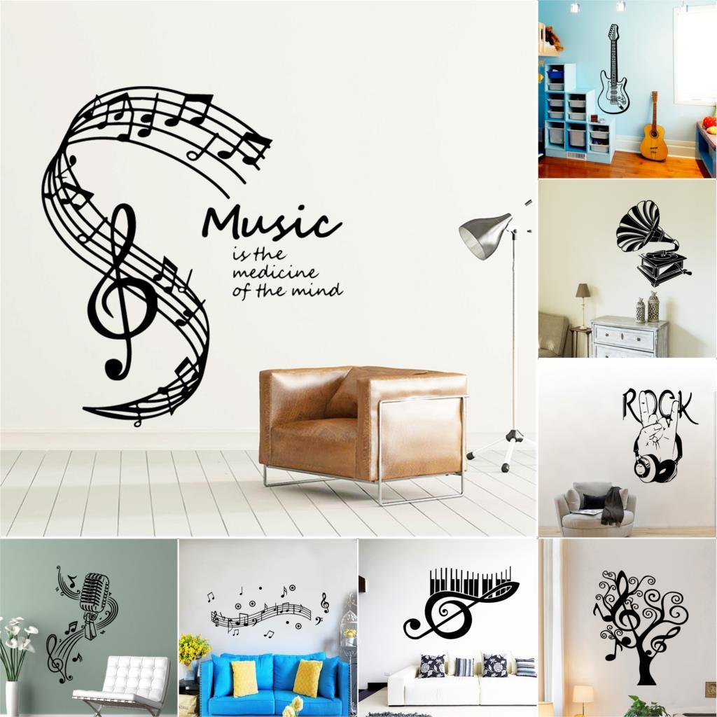€17.177 17% de réductionRock band autocollant Mural Art  Stickers de  musique pour chambre à coucher, Stickers de décoration muraux en vinyle  pour