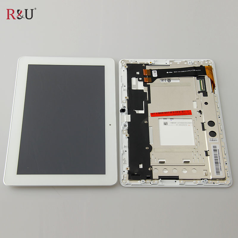 Used parts LCD display + touch screen panel assembly with frame For Asus Memo Pad 10 ME102A ME102 K00F asus lcd display touch screen assembly with frame for asus vivotab smart me400c 10 1 replacement parts