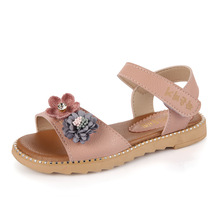 2018new style Summer baby Girls sandals Children beautiful Sandal Fashion Flower Kids Girls Shoes white pink blue