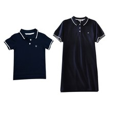 2a221f21 Summer Family Look Clothing Father Son Polo Shirts Matching Outfits Mother  Daughter Dress Mommy and Me