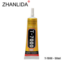 ZHANLIDA T-7000 50ml Epoxy Resin Black Glue Repair Crack Lampshade Move the Door Shoes Multi purpose T7000 Glue Gun