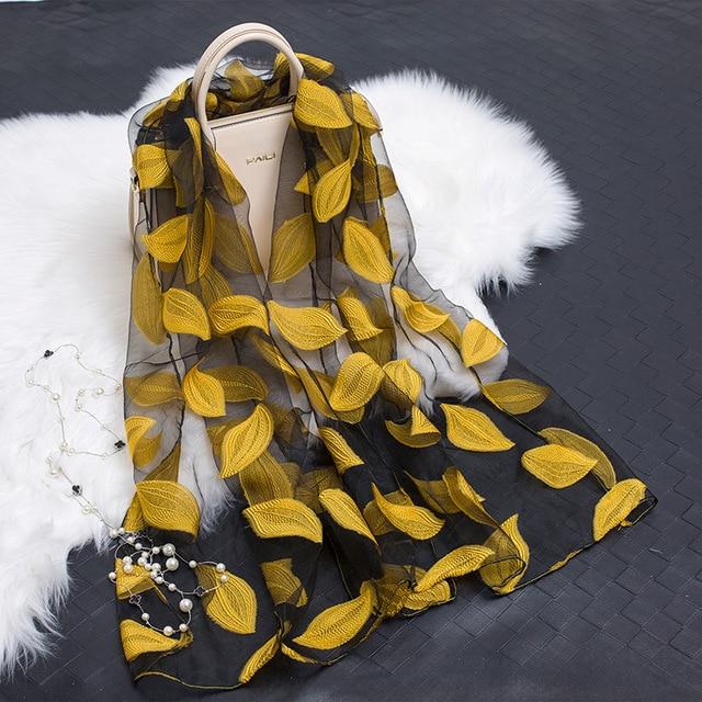 Moda Primavera Otoño de La Bufanda Para Las Mujeres de Algodón Hilo ...