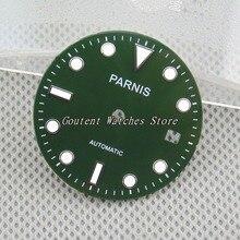 29,5 мм Parnis Зеленый/темно-черный комплект с циферблатом Miyota 82 Move Мужские t Fit 40 мм Мужские часы Чехол наручные часы