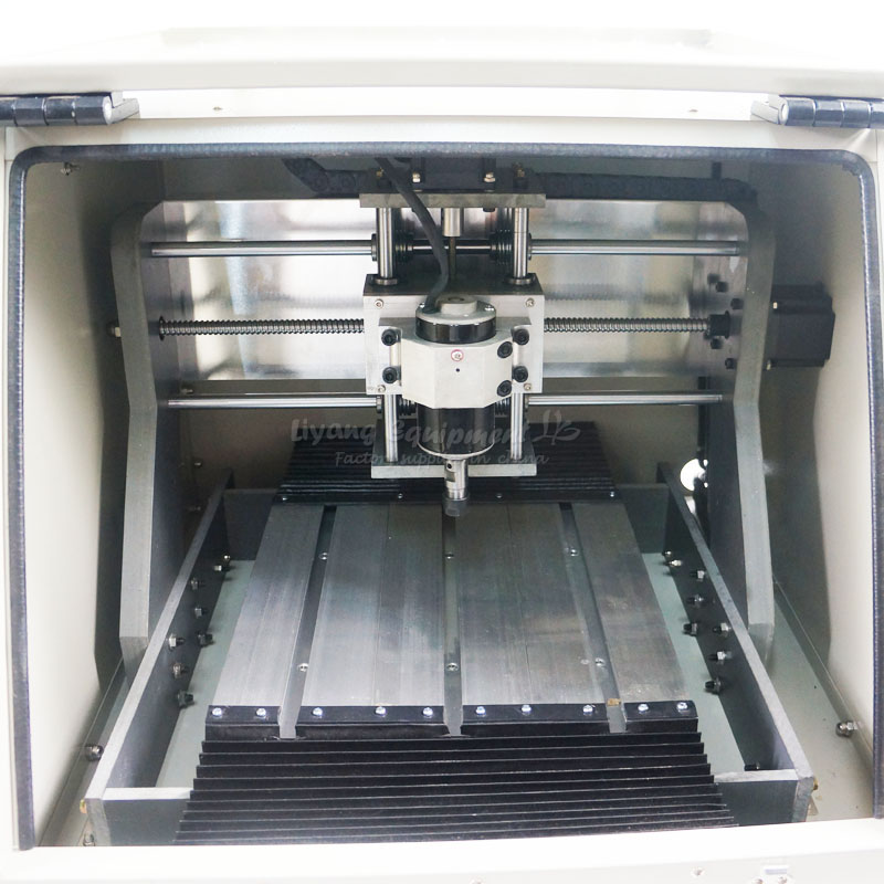 LY CT-3020  ball screw 320w 3 axis CNC engraving machine with auto checking with 500mw laser function,no tax to Russia
