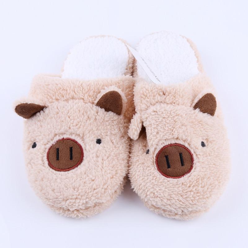 Новые зимние женские тапочки; домашняя обувь для женщин; Chinelos Pantufas Adulto; модные домашние тапочки на меху с милым медведем и Свинкой - Цвет: brown