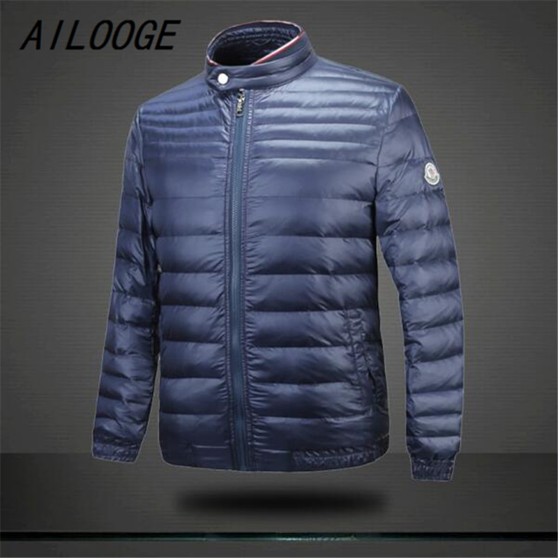 Ailooge new arrival men winter down jacket coats thick overcoats men s clothing feather dress winter