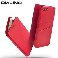 Qialino新鮮な赤い本革ケースカバー用アップルiPhone7 7プラス4.7/5.5