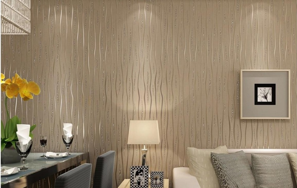 ФОТО Non-woven wallpaper modern minimalist bedroom living room upscale throwing wavy backdrop wallpaper factory outlets