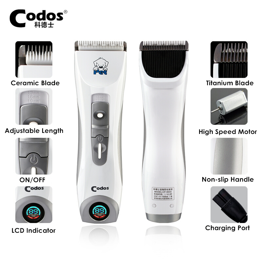Codos CP9600 Professional Pet Clipper Dog Hair Trimmer Grooming Pets Animal Cat Shaver Electric Scissors Mower