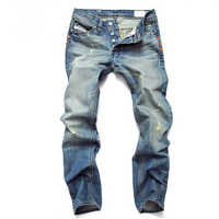 HUIHONSHE Ripped Jeans For Men High Quality Blue Color Jeans Men Size 42 38 Brand Design