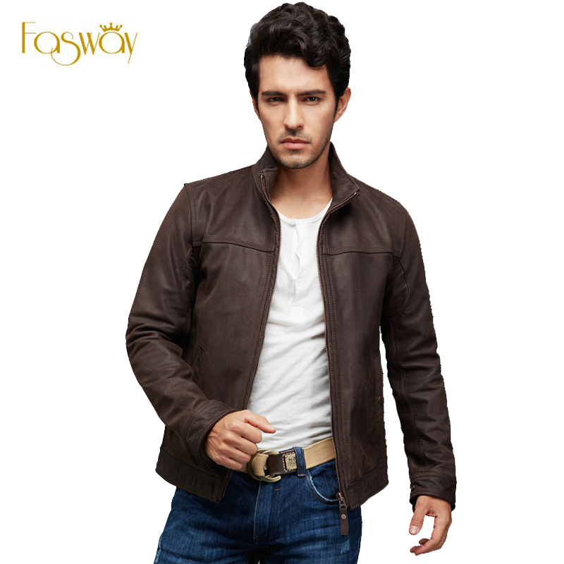 Popular Men&amp39s Brown Leather Bomber Jacket-Buy Cheap Men&amp39s