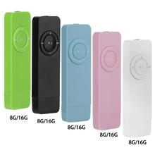 Portable MP3 Player Recorder Rechargeable Lossless HiFi Sound Mini USB MP3 Player U Disk Recorder 8/16GB