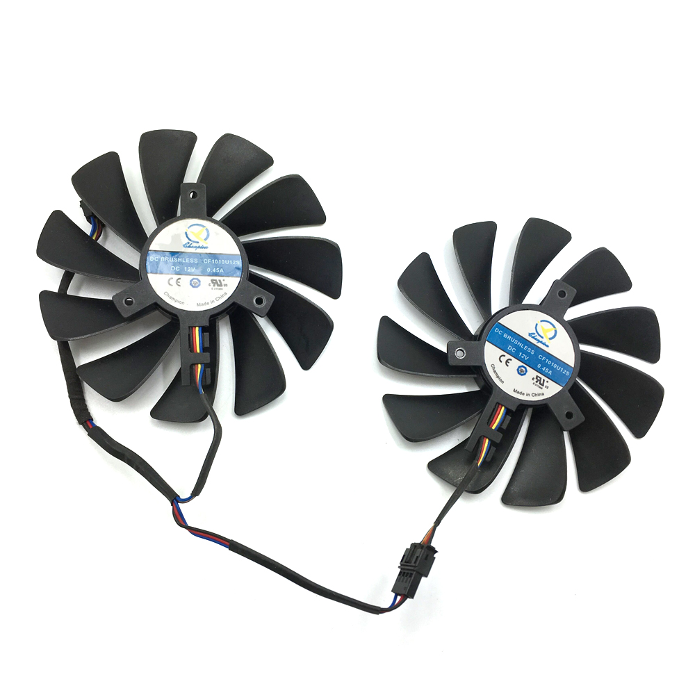 Image 3 - Original 95MM CF1010U12S DIY FDC10U12S9 C PC Cooler Fan Replace For XFX AMD Radeon RX580 RX590 GPU Graphics Card Cooling Fan-in Laptop Cooling Pads from Computer & Office