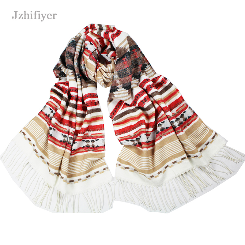 5pcs/lot jzhifiyer YX090 245G 65*200cm Winter Ladies Long Christmas Tree Shawl Cashmere Acrylic Echarpe Pashmina