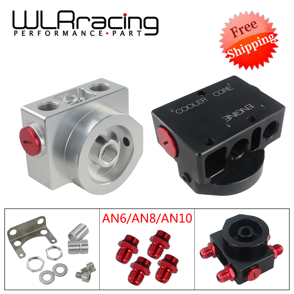 Free Shipping Oil Filter Sandwich Adaptor With Oil filter remote block with thermostat 1xAAN8 4xAN6 AN8