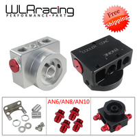 Free Shipping Oil Filter Sandwich Adaptor With Oil filter remote block with thermostat 1xAAN8 4xAN6/AN8/AN10 WLR5675