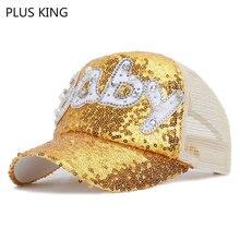 Baby Letters Kids Cap Summer Baseball Cap Boys Girls Hat Snapback Sequined 50-54cm letters badges printed baseball cap