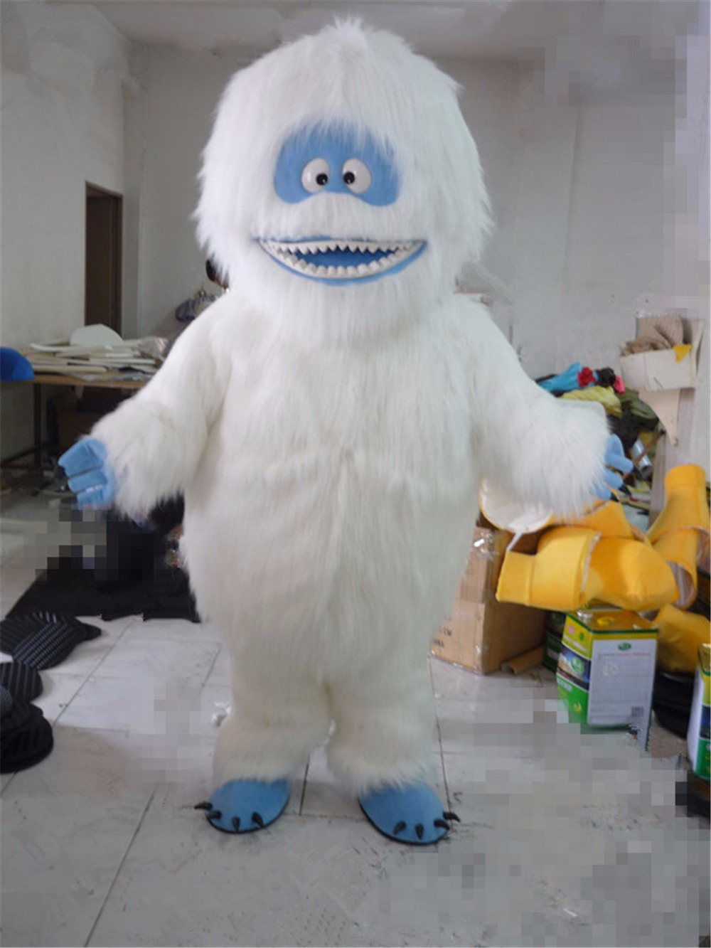 bumble the abominable snowman mascot costume christmas