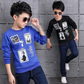 Boys Winter Velvet T-shirts Bottoming Shirts Long Sleeve Children printingTops Casual Kids Clothing Infant Outerwear Streetwear