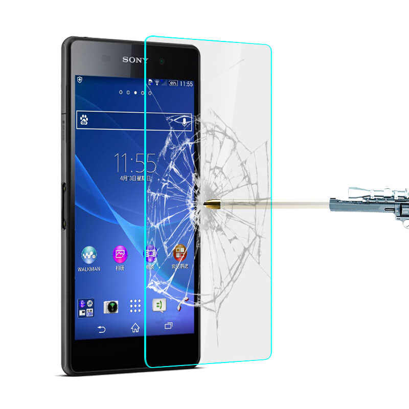 Clear Tempered Glass Screen Protectors For Sony Xperia Z5 Premium Z3 Z1 Mini Compact Z2 Z L36h Z1 L39h T3 M2 S50h M4 Glass