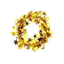 5m Christmas Tinsel Star Hanging Decorations Party Home Decor Xmas Tree Ornaments decoracion de navidad