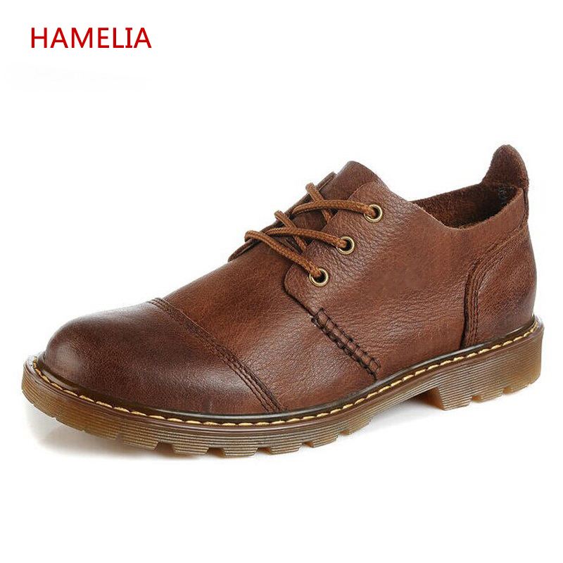 2017 New Top Layer Cow leather Men Shoes Genuine Leather Fashion Laceup Shoe Men Oxfords Animal Flats Muscle Oxford shoes