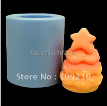 wholesale!!!New 3D Christmas Tree(R0379) Silicone Handmade Candle Mold Crafts DIY Mold