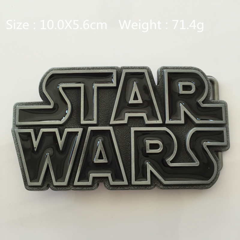 2015 New Style star wars Belt Buckle black Metal Suitable for 4cm/1.57in Wide Belt for Fashion Men Women Jeans accessories
