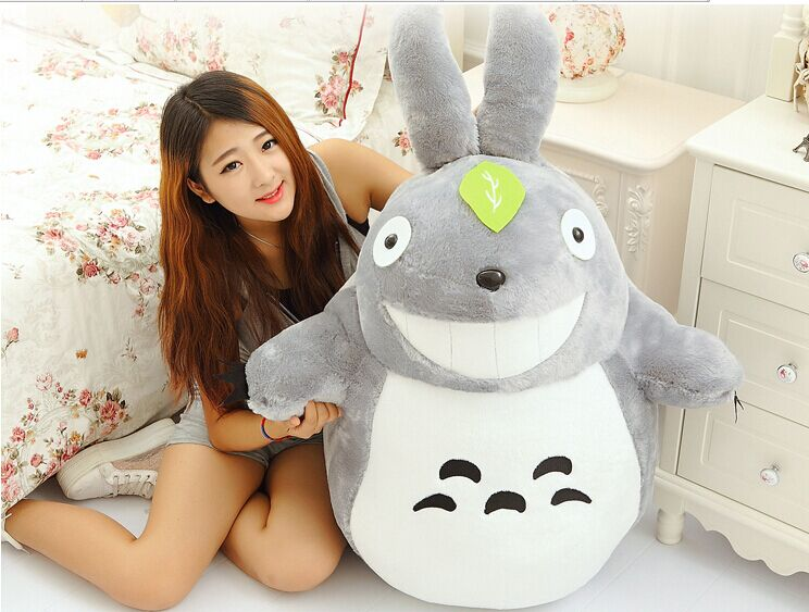 stuffed toy 90 cm open mouth totoro plush toy Totoro toy smile expression totoro doll gift 0324 free shipping about 60cm cartoon totoro plush toy dark grey totoro doll throw pillow christmas gift w4704