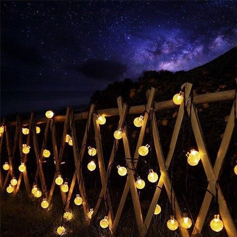 led string luzes de fadas solar guirlandas