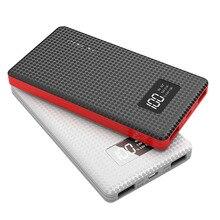 Banco de Energia Carregador para Smartphones Bateria Externa 6000 MAH Tela LCD Portátil Li-polímero USB Móvel