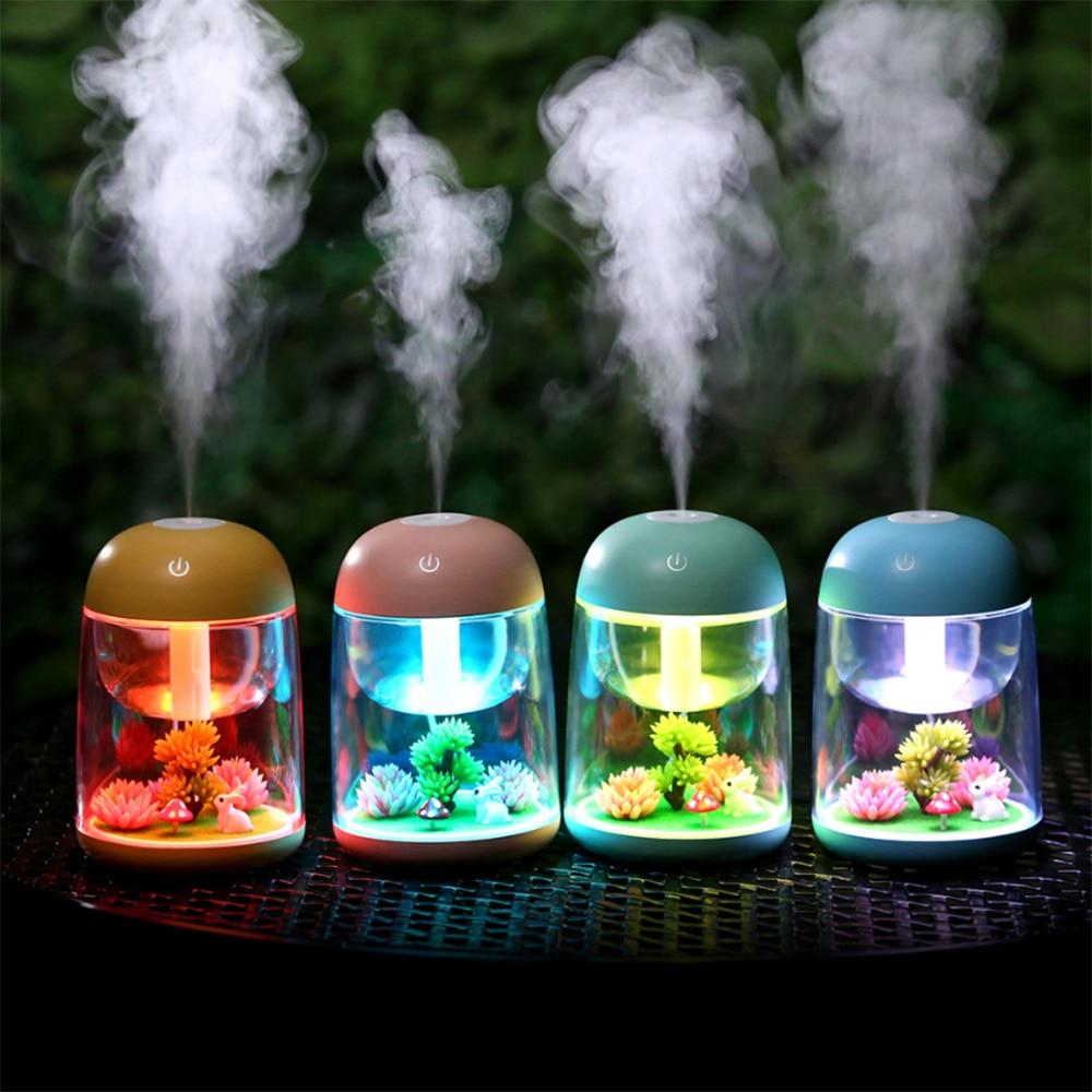 Original LED Night Light Micro Landscape Aromatherapy Humidifier Simulation Plant Night Lamp Novelty LED Lamp For Home Decor