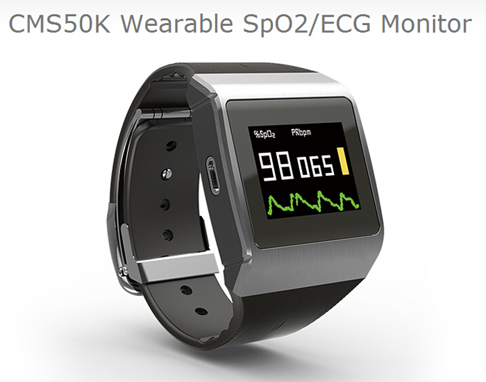 smartwatch ecg 3 in 1 Monitor SpO2,ECG,Pedometer Wearable Digital Pulse Oximeter Wireless Bluetooth Smart oximeter CMS50K