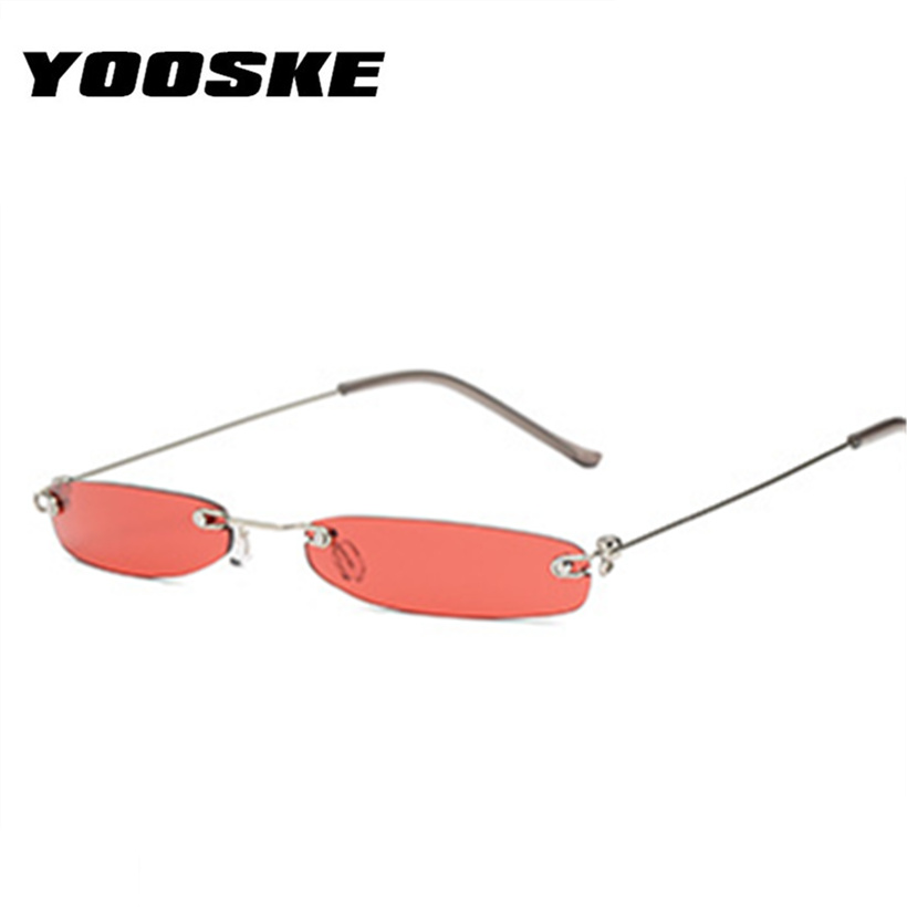 f04cb3d1a35f YOOSKE Vintage Small Cat Eye Glasses Women Unique Style Retro Sunglasses  Metal Fashion Catwalk Sun Glasses Anti-UV Goggles