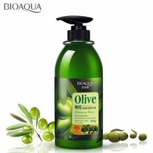 BIOAQUA оливковый усилитель завитков для укладки волос Эластин длительное увлажнение улучшает пушистость пушистый защищает объем легко складывается в привычки 400 мл