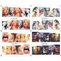 Mujeres Sexy Cartoon Decal Agua 12 Patrón Clásico Héroe Animación Etiqueta Engomada Del Clavo de Transferencia de Agua 12 hoja/lot Embalaje Desnudo