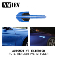 NWIEV Car Styling For Volkswagen BMW E46 E39 Mini Cooper Audi A4 B6 B8 A5 Ford Fender 3D Emblem Stickers Reflective Accessories