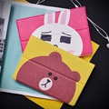 "Mipad 1 Cute Bear Ultra slim Smart PU Leather Case Flip Cover For Xiaomi Mi Pad 1 2 7.9"" Tablet Case Cover Protective Bag Skin"